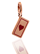 Cartier Heart Playing Card Charm Pendant in 18k Rose Gold