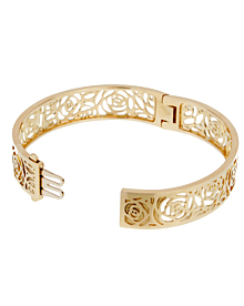 Chanel Camellia Yellow Gold Ajoure Bracelet - Chanel Jewelry