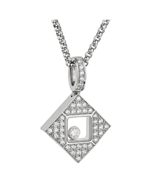 Chopard Happy Diamonds Square White Gold Necklace - Chopard Jewelry