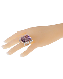 Dior Amethyst Diamond Cocktail Ring - Dior Jewelry