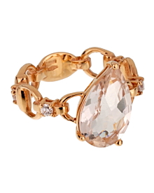 Gucci Diamond Topaz Rose Gold Cocktail Ring - Gucci Jewelry