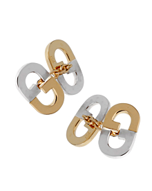 Gucci Vintage GG Two Tone Gold Cufflinks - Gucci Jewelry