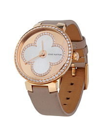 Louis Vuitton Tambour Blossom 35 Rose Gold Diamond Watch - Louis Vuitton Jewelry