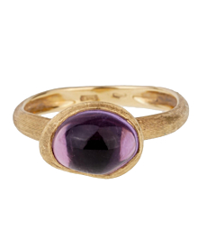Marco Bicego Amethyst Gold Textured Ring - Estate Jewelry