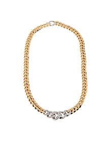 Pomellato Curb Link Diamond Gold Necklace - Pomellato Jewelry