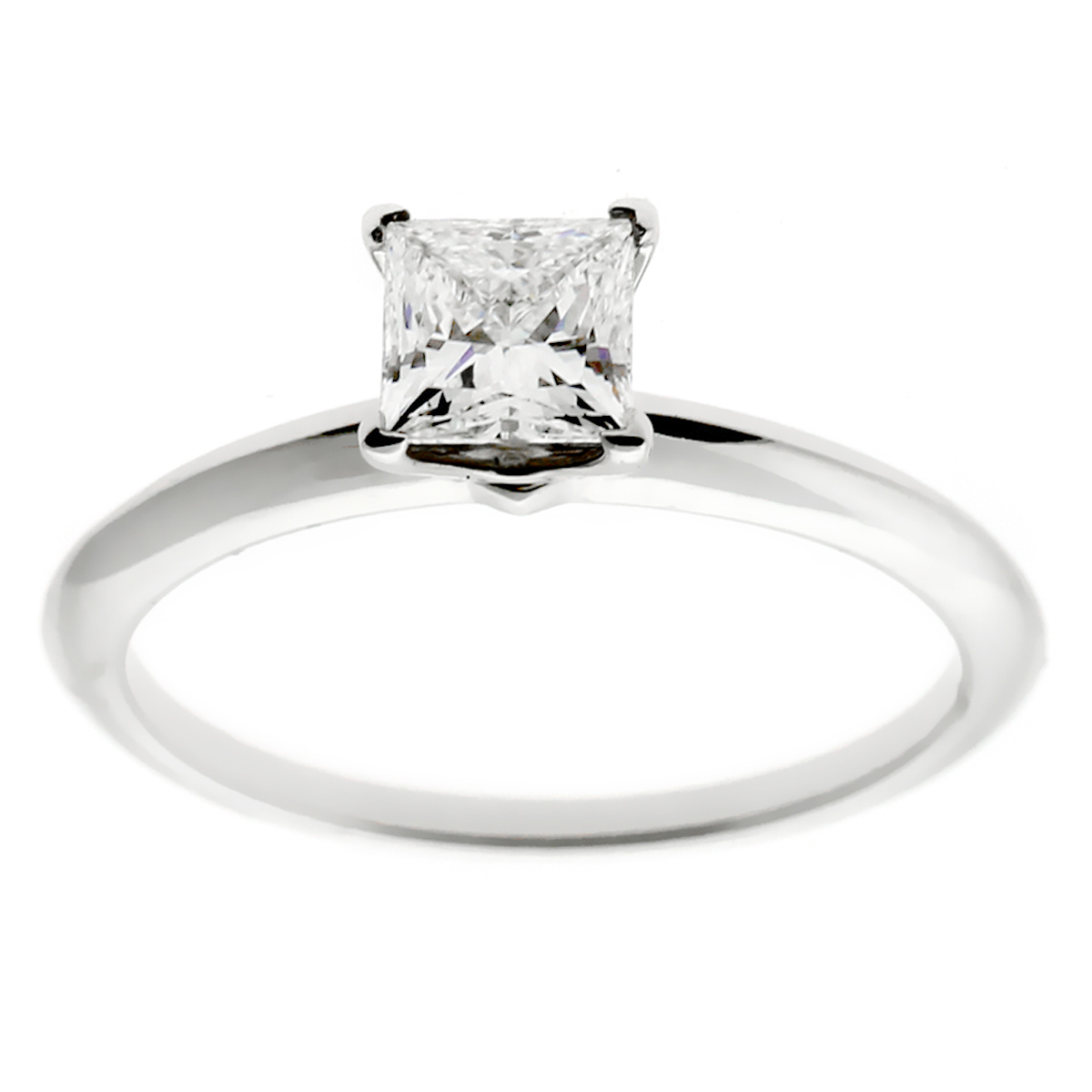 Tiffany Co Princess Cut Diamond Engagement Ring For Sale