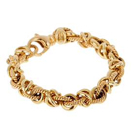 Bulgari Vintage Yellow Gold Chain Link Bracelet