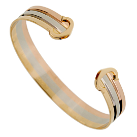Cartier C De Cartier White Yellow Rose Gold Cuff Bracelet