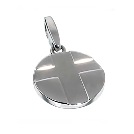 Cartier Cross White Gold Charm Pendant