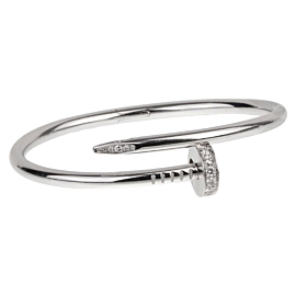 Cartier Juste Un Clou White Gold Diamond Bangle Bracelet