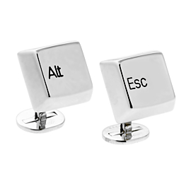 Cartier Keyboard White Gold Cufflinks