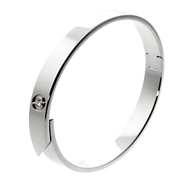 Cartier Anniversary Diamond Bangle White Gold Bracelet
