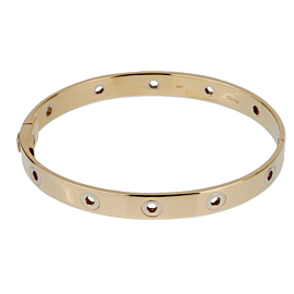 Cartier Vintage Love Series 18k Yellow Gold Bangle