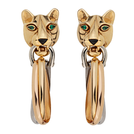 Cartier Panthere Day Night 18k Gold Drop Earrings