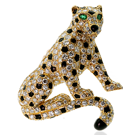 Cartier Panthere Diamond Yellow Gold Brooch