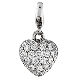 Cartier Puffed Diamond Heart Charm