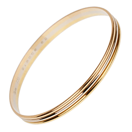 Cartier Trinity Slip On Gold Bangle Bracelet