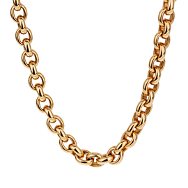 Cartier Vintage Cable Link Yellow Gold Necklace