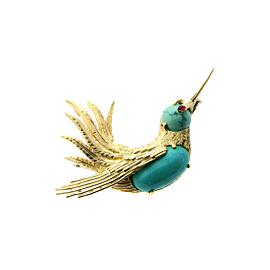 Vintage Cartier Gold Hummingbird Brooch