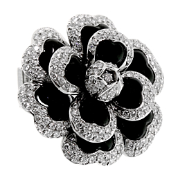 Chanel Camellia Diamond Platinum Necklace Brooch