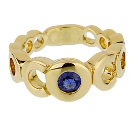 Chanel Coco Sapphire Yellow Gold Ring