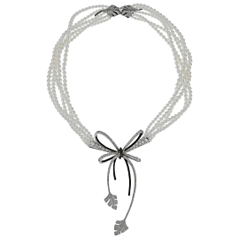 Chanel High Jewelry Diamond Pearl White Gold Necklace