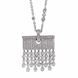 Chopard Diamond Tassel Drop Necklace
