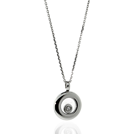 Chopard Happy Diamond Necklace in 18k White Gold 797211-1001