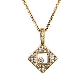 Chopard Happy Diamonds Square Yellow Gold Necklace