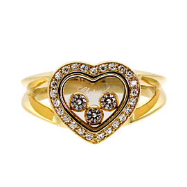Chopard Happy Diamond Heart Gold Ring 82/4502