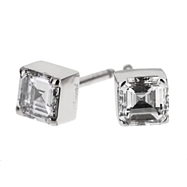 Chopard Ice Cube Square Cut Diamond Stud Earrings