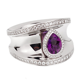 Chopard Imperiale Amethyst Diamond White Gold Ring