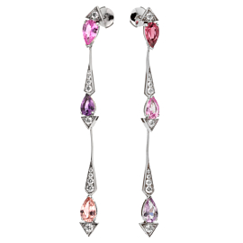 Christian Dior Diamond Sapphire Drop Earrings
