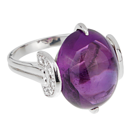 Dior Amethyst Platinum Diamond Ring