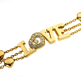 Chopard Happy Diamond Gold Heart Bracelet