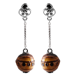 Gucci Bamboo Double G Silver Drop Earrings