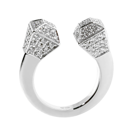 Gucci Chiodo Diamond White Gold Ring