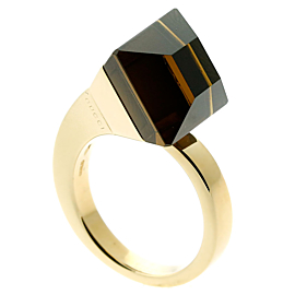 Gucci Chiodo Smokey Quartz Gold Ring