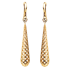 Gucci Diamantissima 18k Yellow Gold Drop Earrings
