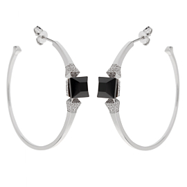 Gucci Onyx Diamond White Gold Earrings