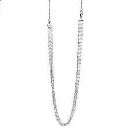Gucci Multistrand White Gold Diamond Necklace
