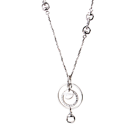 Gucci Flora White Gold Diamond Necklace