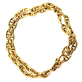 Hermes Chaine D'Ancre Gold Necklace