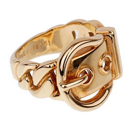 Hermes Paris Belt Buckle Yellow Gold Ring