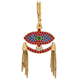 Louis Vuitton Evil Eye Ruby Charm Pendant