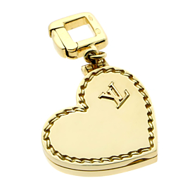 Louis Vuitton Heart Locket Gold Charm Pendant