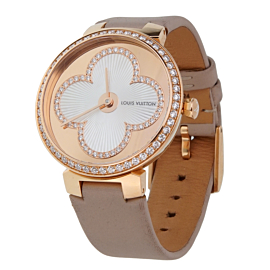 Louis Vuitton Tambour Blossom 35 Rose Gold Diamond Watch