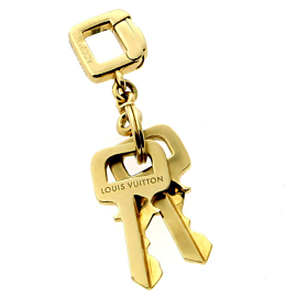 Louis Vuitton Gold Key Pendant Charm Necklace
