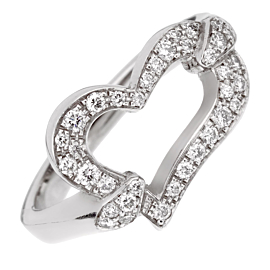 Piaget Heart Diamond White Gold Ring