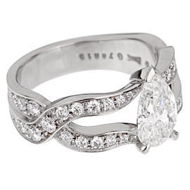 Piaget Jardin Secret Pear Diamond Engagement Ring